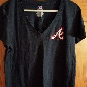 MLB Atlanta Braves vneck tshirt